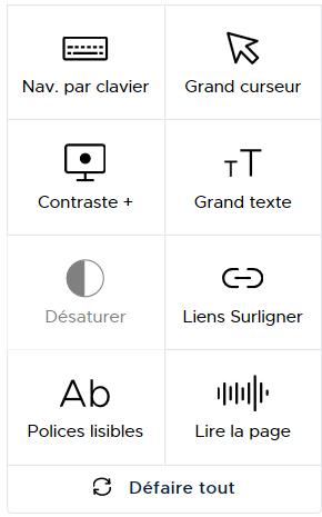 Dessin des touches Userway