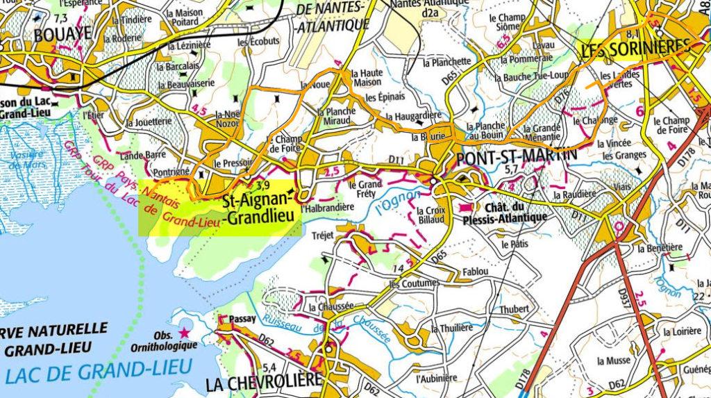 Photos du circuit Les Sorinières - Lac de St-Aignan de Grand-Lieu
