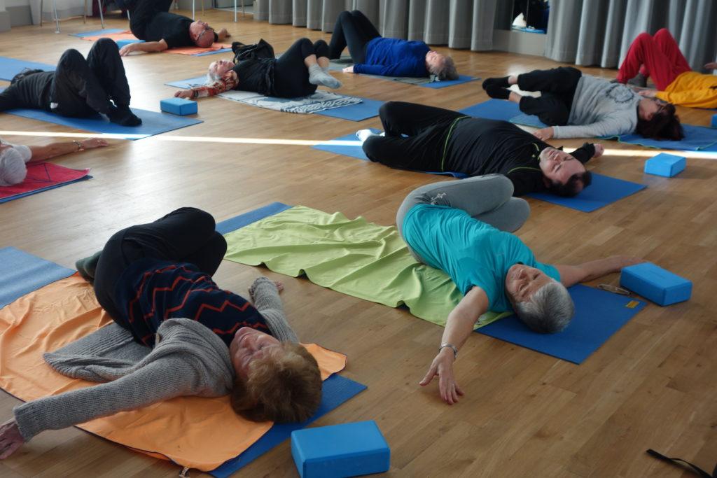 Photo du cours de yoga
